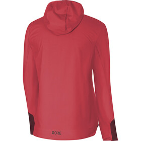 GORE WEAR W's H5 Gore Windstopper Insulated Hooded Jacket Hibiscus Pink/Chestnut Red
